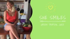 first week in Mexico, first video recipe! Tropical Green Smoothie with a special ingredients! Click play baby! and happy Saturday! :) - VIDEO RECIPE: TROPICAL GREEN SMOOTHIE Good Smoothies, Juice Smoothie, Salsa Music, Pina Colada, Her Smile, Happy Saturday, Juices, Food Videos, My Best Friend