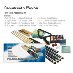 Our best selling Pool Table Accessory kit is back in stock - and its the perfect starter kit for a new Pool Table! With Christmas just around the corner this could be the perfect gift idea. Triangle Game, Pool Table Accessories, Pool Table Covers, Sport Pool, Chalk Holder, Seasoned Wood, Wall Racks, Around The Corner, Starter Kit