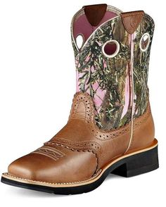 Ariat Women's Fatbaby Cowgirl Boot - Cork Brown/True Timber    http://www.countryoutfitter.com/products/16168-womens-fatbaby-cowgirl-boot-cork-brown-true-timber #cowgirlboots