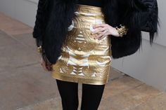 #Gold #Skirt