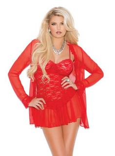 5df05fd265 Three piece set Lace babydoll with underwire cups
