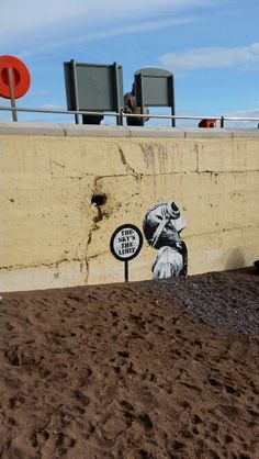 Street art in Dawlish.
