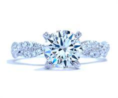 Braided diamond band engagement ring by Ascot Diamonds #ascotdiamonds