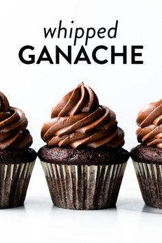 How to make whipped chocolate ganache from only 2 ingredients. You need heavy cream and chopped chocolate. Make the ganache, then whip it with a mixer. Recipe on sallysbakingaddiction.com #ganache #easyrecipes #chocolate