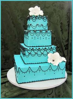 Beautiful Blue Wedding Cakes Decoration Beautiful Wedding Cakes Decoration by Erin Murphy