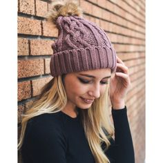 Hip Mauve Cable Knit