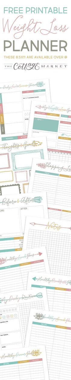 Free Printable Weight Loss Planner