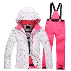 21e6c1e3dd57 95 Best Winter colorful waterproof Snowsuit ski suits jacket+pants ...