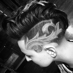 ,Lil j Super Trendy Hair Tattoos! – The HairCut Web Related posts:A-Line Bob Haarschnitt mit glattem Wolle ★ Erspähen Sie . Shaved Side Hairstyles, Undercut Hairstyles, Trendy Hairstyles, Undercut Mohawk, Haircuts, Side Shave Design, Haare Tattoo Designs, Shave Designs, Short Hair Cuts