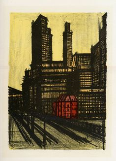 bernard buffet - new york I (1967)