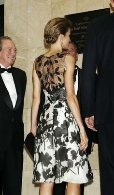 """06 October 2014  Gala dinner in Madrid Last night King Felipe and Queen Letizia attended a dinner in honour of the """"Mariano de Cavia"""", """"Luca de Tena"""" and """"Mingote"""" awards winners at Casa de ABC in Madrid, in Spain."""