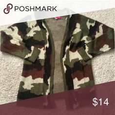 Camo sweater ! Say What? Sweaters