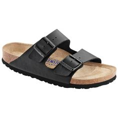 Birkenstock Women's Arizona Black Soft Footbed Sandals (N)