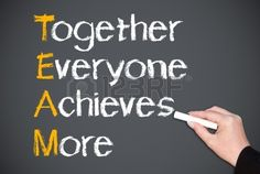 Together Everyone Achieves More - Team Concept Stock Photo