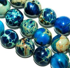 4mm Turquoise Round African Gemstone Loose Beads