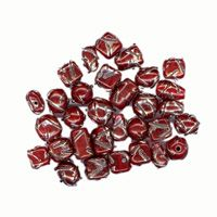 100g Glass Chevron Bead Mix Red