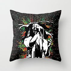 Bob marley abstract painting Decorative cushion Pillow Case #case #accessories #pillow