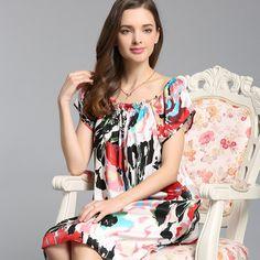 84 张 Pure real Silk pajamas   Nightgown   lingerie   Sleepshirt 图 ... ed5d95bcc