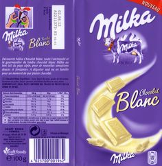 tablette de chocolat blanc dégustation milka chocolat blanc