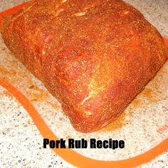 A sweet and smokey pork rub recipe from Flames and Food .com