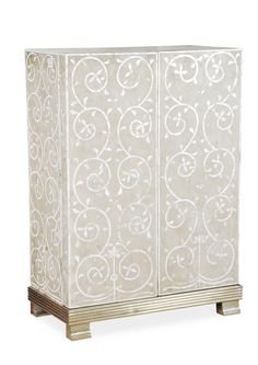 MOTHER OF PEARL BAR CABINET: Material- Imlaid mother of pearl; DIMENSIONS: L90xW48XH24 cm; PRICE: 99000/-; Buy Now: http://tfrhome.com/landing/productlandingpage.php?product_code=wff-10