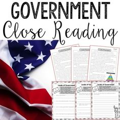 Help your students dig deeper into nonfiction reading with these United States government informational reading passages and questions. This is a great way to integrate nonfiction reading to your reading instruction! 4th Grade Social Studies, Social Studies Resources, Teaching Social Studies, History Teachers, Teaching History, Geography Activities, Teacher Lesson Plans, Reading Passages, Student Reading