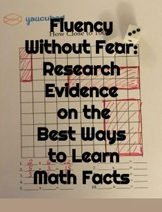 Fluency Without Fear: Research Evidence on the Best Ways to Learn Math Facts - Mathematics facts are important but the memorization of math facts through times table repetition, practice and timed testing is unnecessary and damaging. Number sense is much more important for students to learn.