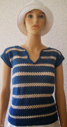 Blusa Zig Zag Crochet, Débardeurs Au Crochet, Crochet Woman, Crochet Chart, Crochet Cardigan, Crochet Square Patterns, Crochet Clothes, Ideias Fashion, Clothes For Women