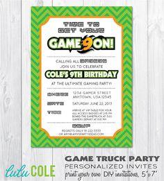 Printable Video Game Birthday Party Invitation By Khudd On Etsy - Birthday party invitation videos
