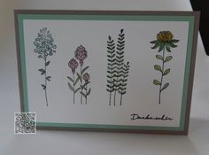 Stampin´UP! jennys_Stempelwelt Grußkarte mit dem Set Flowering Fields