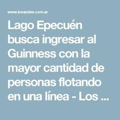 Lago Epecuén busca ingresar al Guinness con la mayor cantidad de personas flotando en una línea -  Los Andes Diario