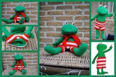 gehaakte kikker handpop Crochet Baby Toys, Crochet Animals, Knit Crochet, Diy Projects For Kids, Amigurumi Patterns, Puppets, Crafts To Make, Dinosaur Stuffed Animal, Knitting