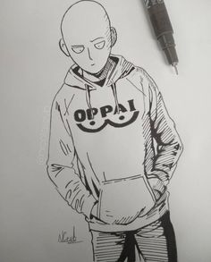 Anime Art by Incredible Anime Artists: Welcome to Anime Ignite Saitama One Punch Man, Anime One Punch Man, Marvel Drawings, Cartoon Drawings, Easy Drawings, Anime Lineart, Cute Couple Wallpaper, Rapper Art, Man Sketch