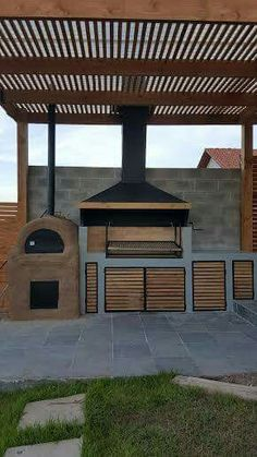 "Figure out more information on ""outdoor kitchen designs layout patio"". Visit our site. Outdoor Kitchen Patio, Bbq Kitchen, Outdoor Kitchen Design, Backyard Patio, Backyard Landscaping, Outdoor Spaces, Outdoor Living, Kitchen Ideas, Outdoor Kitchens"
