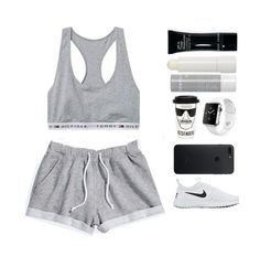 """""""#284"""" by parkerxoxo on Polyvore featuring H&M, NIKE, River Island, Apple, Bobbi Brown Cosmetics and Korres"""