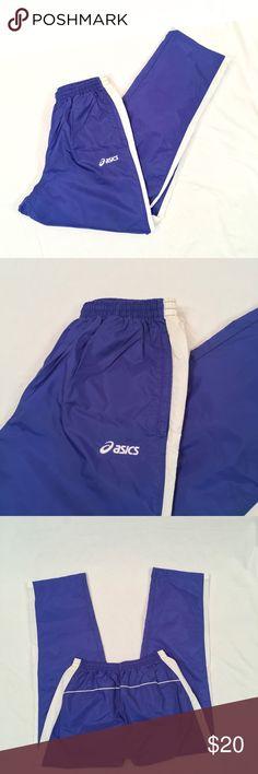 ASICS Men's Sweats Great condition blue men's sweatpants from Asics! Has mesh lining and elastic waistband. Men's size large. Asics Pants Sweatpants & Joggers
