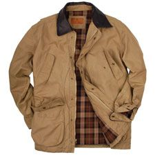 SCHNEE'S Powder Horn Field Coat. Flannel lined, briar proof, water repellent, game bag, bellow pockets. $295