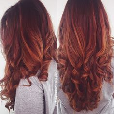 Red Hair Color : Balayage is a current hair trend that looks,Balayage hair color is a French technique that is the latest dye trend to gain international Red Balayage Hair, Brown Ombre Hair, Auburn Balayage, Caramel Balayage, Balayage Color, Red Ombre, Red Bayalage, Shatush Hair, Cabelo Rose Gold