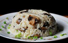 Brown Rice Mushroom Pilaf #vegan #vegetarian #healthy #gourmandelle #recipe