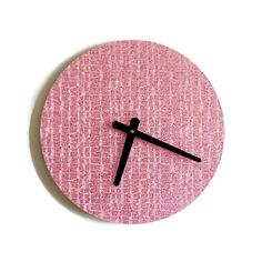 Hey, I found this really awesome Etsy listing at https://www.etsy.com/listing/180555075/unique-wall-clock-pink-glitter-clock