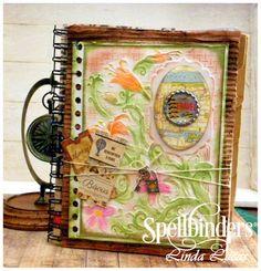 Lovely Linda's Craft Central!!: Spellbinders Upcycled Travel Journal Tutorial