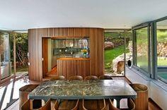 moderne kleine Küche-Haus Architektur