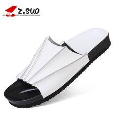 Size 38-44 Black White 2017 Summer Fashion Flip Flops Beach Sandals Shoes Man Flat Sandals Casual Men'S Flip Flops Shoes For Men