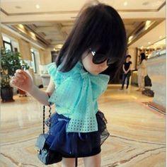 Aliexpress.com: Compre Menina grande Bowknot Camisas Sem Mangas menina blusas crianças camisa Dos Miúdos Roupas de verão para As Meninas Frete Grátis de confiança cabide de roupas fornecedores em Maureen Fashion Store