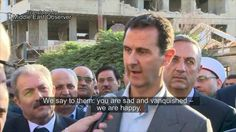 Syria's Assad sends a message to Western officials from recaptured city ...