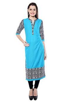 Navriti-Cotton-Kurti-For-Women-Blue-Large-0