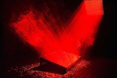 Laser installation by LI HUI at the Singapore Art Museum, photographed by CHOO YUT SHING
