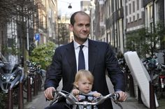 Business man by Aude by amsterdamcyclechic, via Flickr