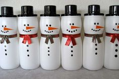 Snowman container out of a Puffs container