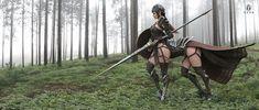Centaur Elf Warrior Fantasy Fan Art - Media Chomp Elf Warrior, Fantasy Warrior, Netflix Anime, Angels And Demons, High Fantasy, Centaur, Fantasy Artwork, Creature Design, Fantasy Creatures